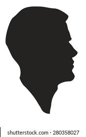 elegant men's facial profile