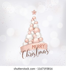 elegant merry christmas card rose 260nw 1167193816