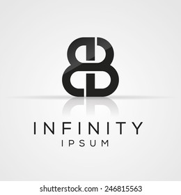 Elegant minimal letter symbol. Alphabet B logo design. Vector illustration.