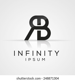 Elegant minimal letter symbol. Alphabet logo design. Vector illustration.