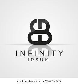 Elegant minimal letter symbol. Alphabet E and B logo design. Vector illustration.