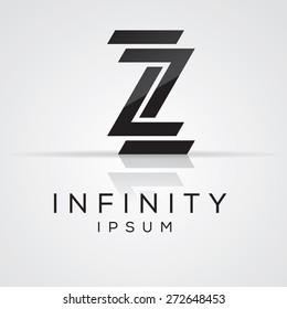 Elegant minimal letter symbol. Alphabet Z logo design. Vector illustration.