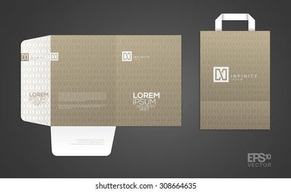 Elegant minimal style corporate identity template. Letter envelope and business card design.  Typographic N symbol. Vector illustration.