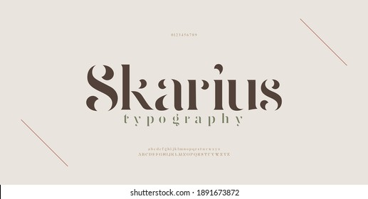 Elegant modern alphabet letters font. Classic Lettering Minimal Fashion Designs. Typography modern serif fonts regular decorative vintage concept. vector illustration