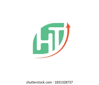 elegant modern logo of H and T letters