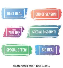 elegant, modern, simple promotion ribbon, promotion banner, sale banner, discount banner, discount promotion