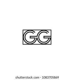 elegant monogram gg logo