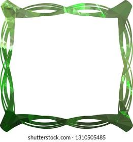 Elegant mosaic frame, border, background