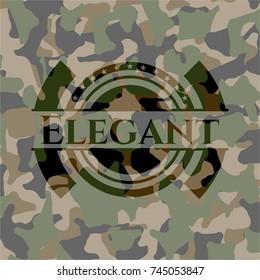 Elegant on camouflaged pattern