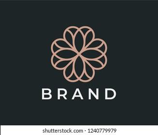 Elegant ornament logo icon. Universal ornament design.