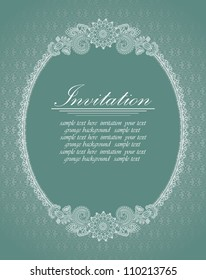 Elegant oval frame. Can be used as an invitation