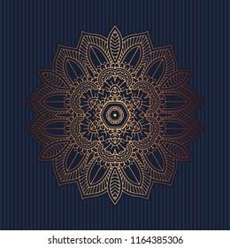 Elegant pattern background with a decorative mandala design