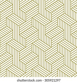Elegant pattern. Golden pattern. Seamless vector pattern.