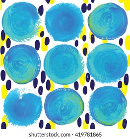 elegant pattern in Scandinavian style with drops of watercolor paint.