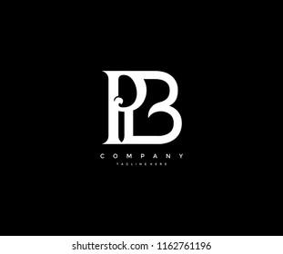 Elegant PB Letter Linked Monogram Design Logotype