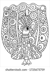 15 Fun Fancy Funky Faces Coloring Pages for Adults Vol.2 ... | 280x195