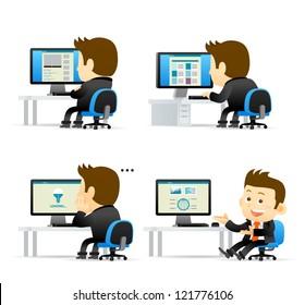 Elegant People Series -Businessman at computer