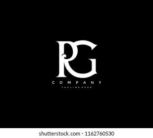 Elegant PG Letter Linked Monogram Design Logotype
