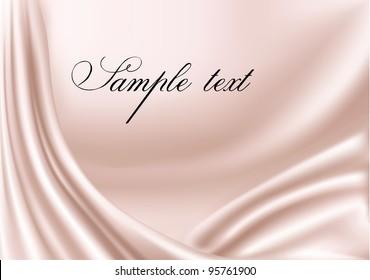 Elegant pink satin texture. Vector illustration.
