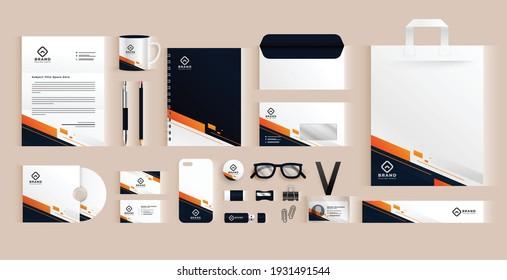 elegant professional business stationery items set