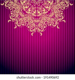 Elegant purple background with lace ornament