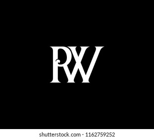 Elegant PW Letter Linked Monogram Design Logotype