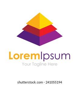 Elegant pyramid multiple layer element icons business logo