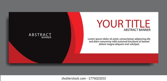 Elegant red web banners of standard sizes for sale. Design template vector