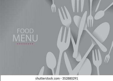 Elegant Restaurant Menu Cover (Vector Art)