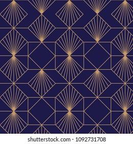 Elegant, retro, art deco background. Vector pattern.