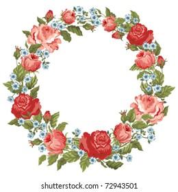 Elegant a retro frame from roses