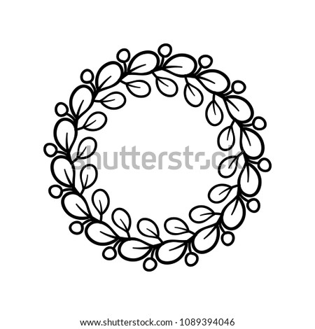 Elegant Round Frame Romantic Style Design Stock Vector Royalty Free