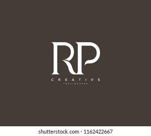 Elegant RP Letter Linked Monogram Logo Design