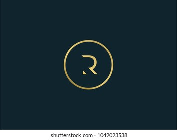 elegant RR negative space logo