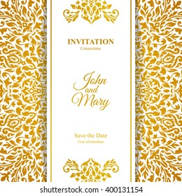 elegant save the date card design vintage floral invitation card template luxury swirl mandala