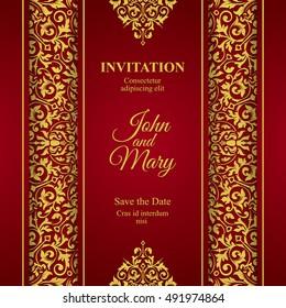 elegant save the date card design vintage floral invitation card