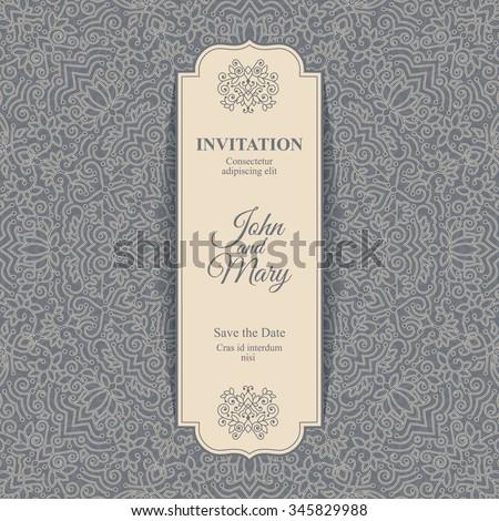elegant save date card design vintage のベクター画像素材