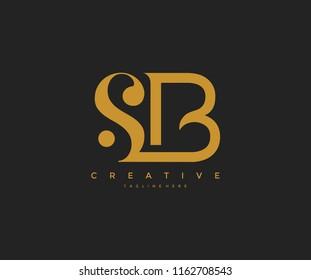 Elegant SB Letter Linked Monogram Logo Design