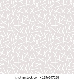 Elegant seamless geometric background pattern with sprinkles design in neutral stone and white. Stylish minimal print for fashion, home furnishings, textiles and gift wrapping paper.