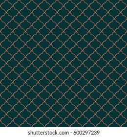 Elegant seamless pattern. Classic tiling vector ornament. Golden texture for luxury wear print and fashion banner. Good for endless wallpaper, surface texture, wrapping paper background, pattern fill