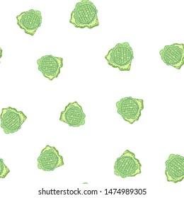 Elegant Seamless pattern with flowers green. Can be used for printing on packaging, bags, cups, laptop, box, etc. Pattern under the mask. Vector.