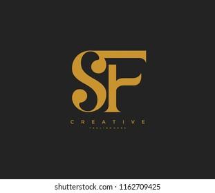 Elegant SF Letter Linked Monogram Logo Design