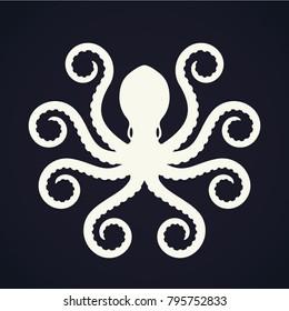 elegant shape stylized octopus logo