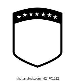 elegant shield frame icon