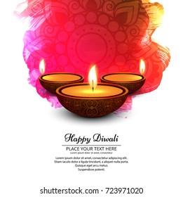 Elegant shiny diwali festival design;