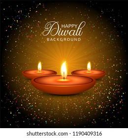Elegant shiny happy diwali festival background