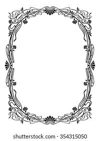 Elegant silhouette frame