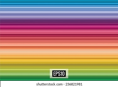 Elegant spectrum abstract background from horizontal lines, vector, eps10