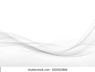 Elegant speed futuristic high-tech swoosh wave stream background. Mild smoke pattern abstract smooth gray modern soft layout. Vector illustration