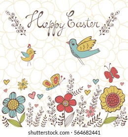 Elegant spring post card. Illustration in vector format